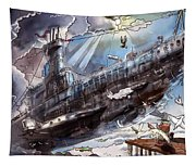 The Flying Submarine Tapestry
