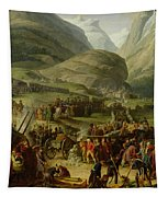 The French Army Travelling Over The St. Bernard Pass At Bourg St. Pierre, 20th May 1800, 1806 Oil Tapestry