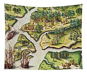 The French Arrive At Port Royal Tapestry