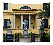 The Front Of The Telfair Museum Of Art Tapestry