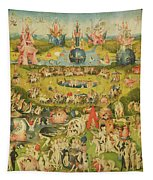 The Garden Of Earthly Delights Allegory Of Luxury, Central Panel Of Triptych, C.1500 Oil On Panel Tapestry