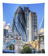 The Gherkin And Tower Bridge Tapestry