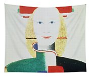 The Girl With The Hat Tapestry