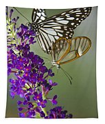 The Glasswing And A Friend  Tapestry