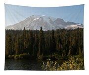 The Glow Of Mount Rainier Tapestry