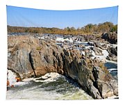 The Great Falls Of The Potomac Panorama Tapestry
