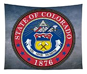 The Great Seal Of The State Of Colorado Tapestry