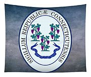 The Great Seal Of The State Of Connecticut Tapestry