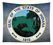 The Great Seal Of The State Of Indiana  Tapestry