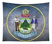 The Great Seal Of The State Of Maine  Tapestry