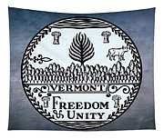 The Great Seal Of The State Of Vermont Tapestry