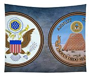 The Great Seal Of The United States Obverse And Reverse Tapestry