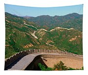 The Great Wall At Badaling In Beijing Tapestry