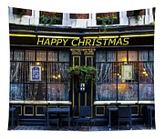 The Happy Christmas Pub Tapestry