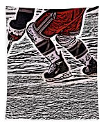The Hockey Player Tapestry