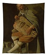 The Hurdy Gurdy Player Tapestry