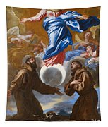 The Immaculate Conception With Saints Francis Of Assisi And Anthony Of Padua Tapestry