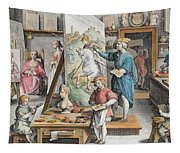 The Invention Of Oil Paint, Plate 15 Tapestry