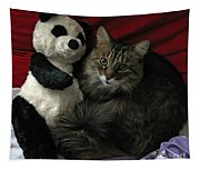 The King Kitty And Panda 01 Tapestry