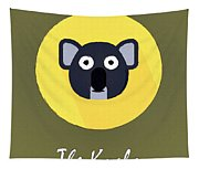 The Koala Cute Portrait Tapestry