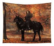 The Lady Of Halloween Tapestry