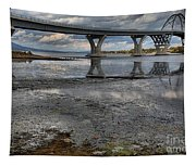 The Lake Champlain Bridge From Cown Point Tapestry