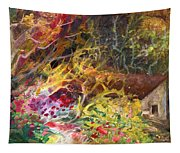 The Little House In The Woods Tapestry