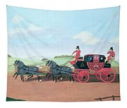 The Liverpool And London Royal Mail Coach, 1812 Oil On Canvas Tapestry