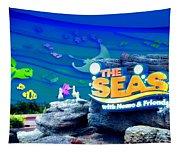 The Living Seas Signage Walt Disney World Tapestry