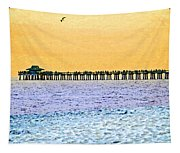 The Long Pier - Art By Sharon Cummings Tapestry