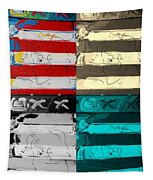 The Max Face In Quad Colors Tapestry