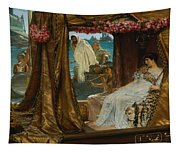 The Meeting Of Antony And Cleopatra  41 Bc Tapestry
