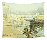 The Mill Dam Cos Cob Tapestry