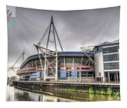 The Millennium Stadium With Flag Tapestry