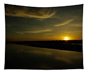The Missouri River At Sunset South Of Culbertson Mt  Tapestry