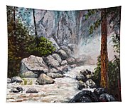 The Mist At Bridalveil Falls Tapestry