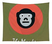 The Monkey Cute Portrait Tapestry
