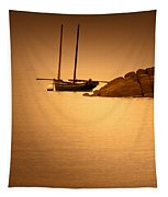 The Mont Saint-michel Bay At Sunset Tapestry