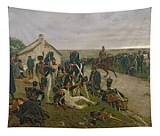 The Morning Of The Battle Of Waterloo Tapestry