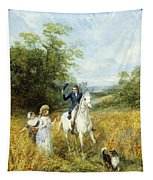 The Morning Ride Tapestry