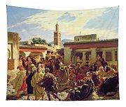 The Moroccan Storyteller Tapestry