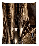 Narrow Street In Albarracin Tapestry