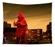 The Night Of The Lobster Man Tapestry