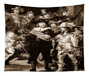 The Night Watch By Rembrandt Tapestry
