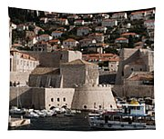 The Old Port Of Dubrovnik Tapestry