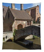 The Old Stone Bridge In Bruges Tapestry