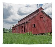 The Old Abandon Tobacco Barn Tapestry
