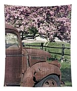 The Old Truck And The Crab Apple Tapestry