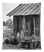 The Outhouse Bw Tapestry