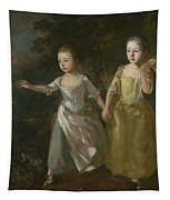 The Painter's Daughters Chasing A Butterfly Tapestry